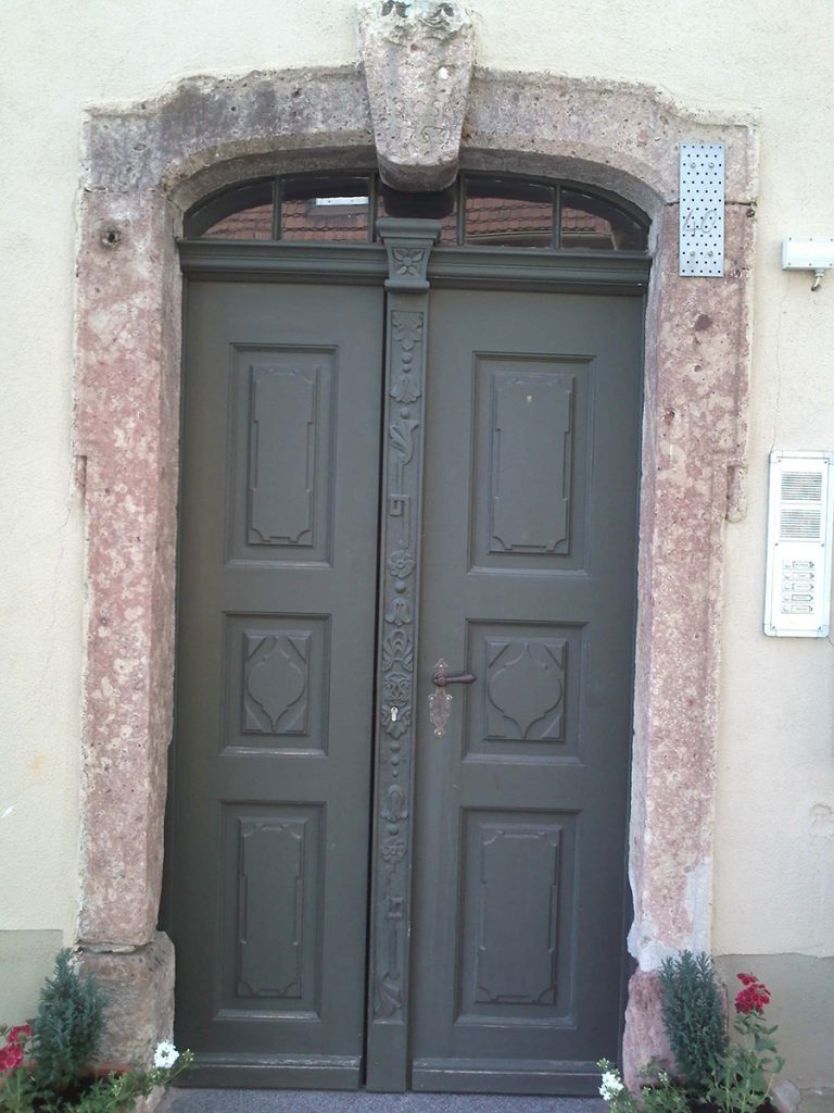 Holzhaustür, 2-flüglig